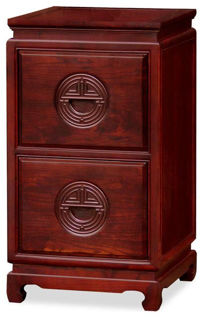 Elmwood Longevity Design 2-Drawer File Cabinet asian-furniture