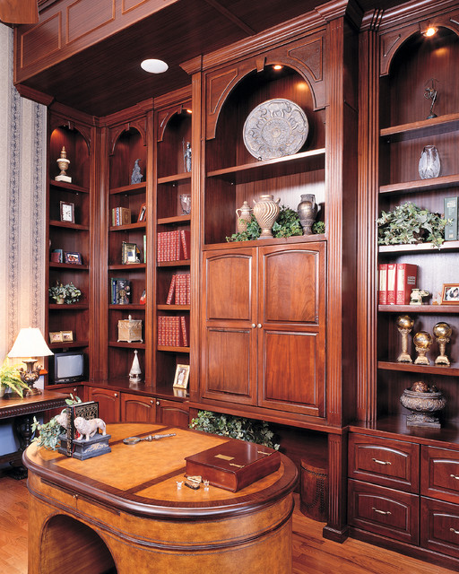 Custom built home office library traditional furniture tampa by furniture design gallery inc Traditional home library design ideas