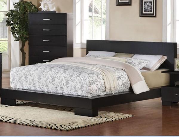 Acme furniture london black finish california king bed 20054ck contemporary beds salt for Salt lake city bedroom furniture