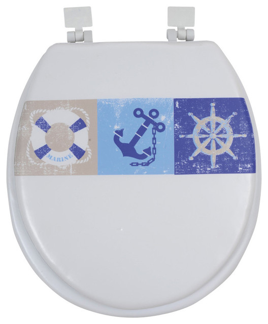 Printed Round Soft Toilet Seat Collection 15 5 Contempora