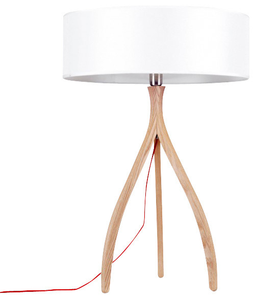 ash wood tripod table lamp contemporary table lamps by parrotuncle. Black Bedroom Furniture Sets. Home Design Ideas