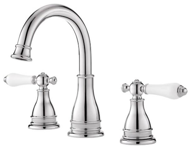 Pfister Sonterra Double Handle Polished Chrome Bathroom Faucet Contemporary Bathroom Faucets