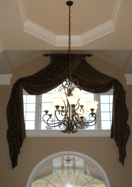 Window treatments traditional curtains atlanta by for Foyer curtain ideas