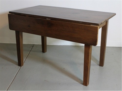 Small drop leaf table in oak farmhouse dining tables boston by