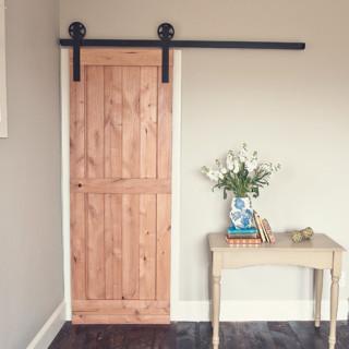 2 Panel Barn Door Kit Traditional Interior Doors By