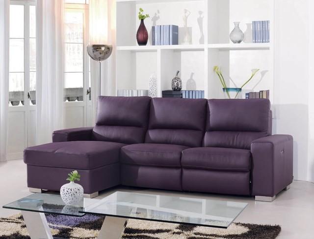 Lalia Italian Leather Sectional Sofa modern sectional sofas los angeles