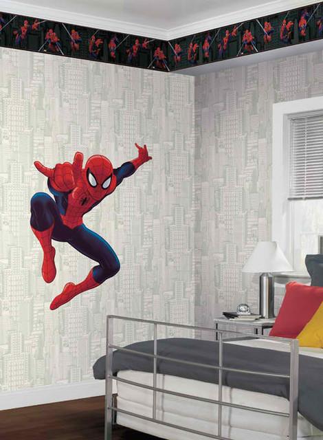 Ultimate Spiderman Wall Applique Modern Kids Decor