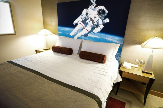 Outer space murals modern wallpaper other metro by for Outer space wallpaper for bedroom