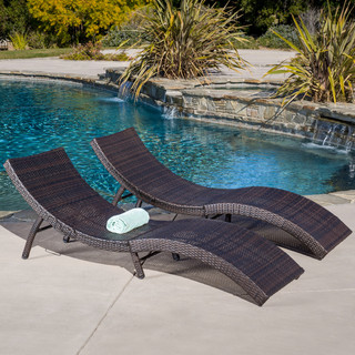 christopher knight home acapulco outdoor wicker folding chaise lounge set of 2 contemporary. Black Bedroom Furniture Sets. Home Design Ideas