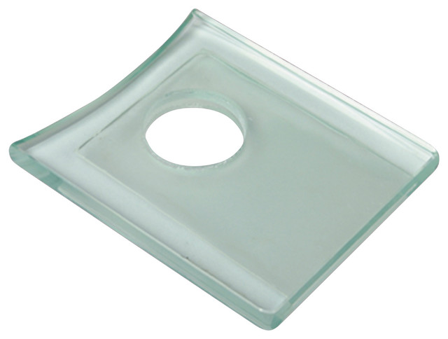 Faucet Parts Clear Glass Square Faucet Plate Only - Modern ...