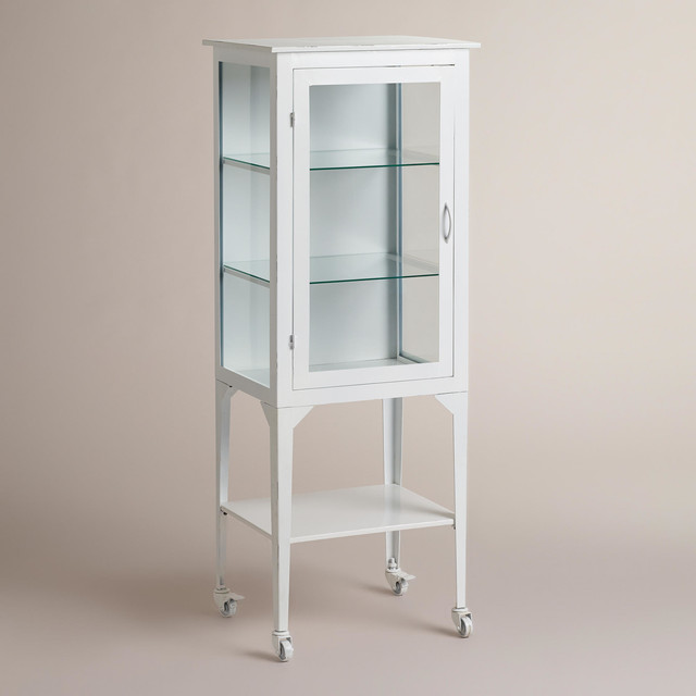 Large White Giselle Cabinet - Traditional - Bathroom Cabinets And Shelves - by Cost Plus World ...