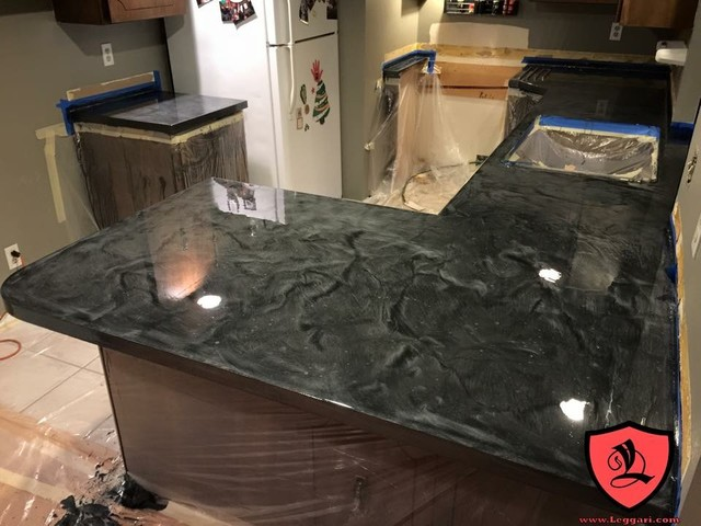 Diy Metallic Epoxy Countertop Resurfacing Kits Contemporary Kitchen Countertops Leggari Llc
