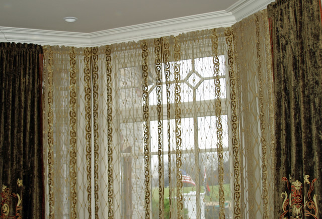 Dining Room Curtains Bay Window For