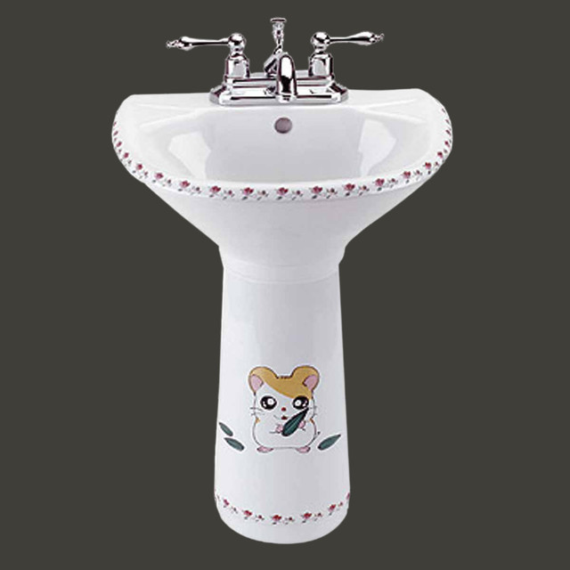 Pedestal Sinks White China Chippy Mouse Child-size Pedestal Sink ...
