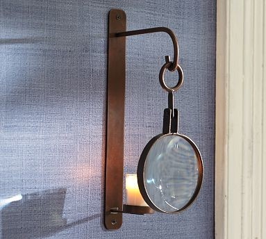Magnifying Glass Wall Mount Votive Sconce Traditional