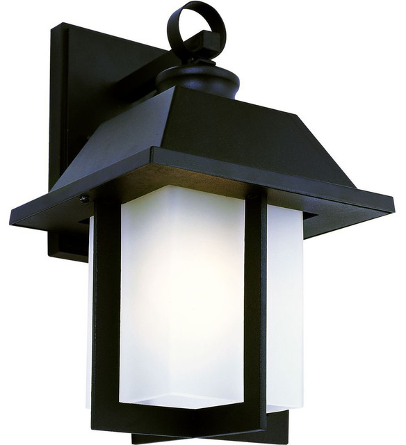 Modern Black Wall Sconces : Pagoda Cap 12