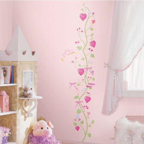 Girls 39 fairy princess growth chart contemporary growth for Fairy princess bedroom ideas