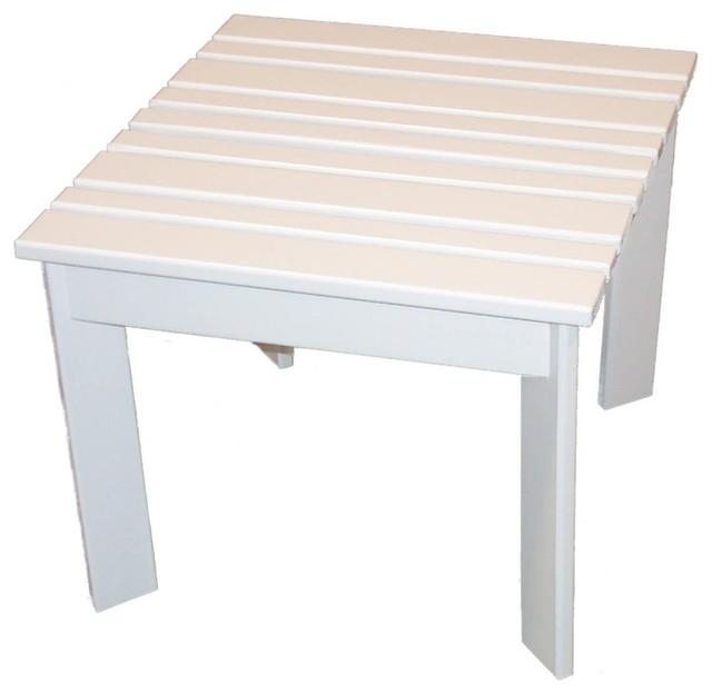 Adirondack Side Table, Large, Hunter Green - Adirondack Chairs - by Prairie Leisure Design