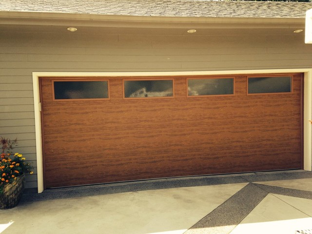 Flush contemporary panel traditional garage other for Flush panel wood garage door