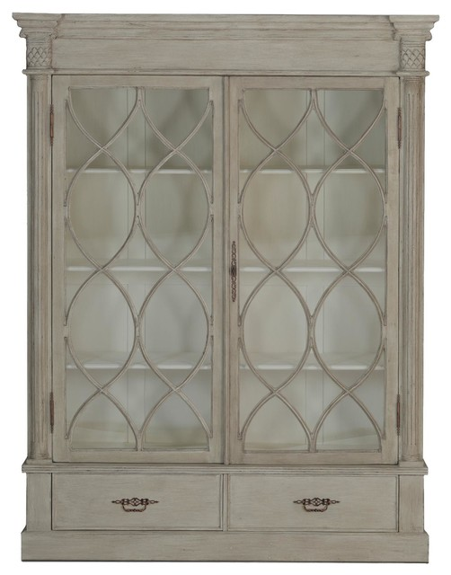 Gabby Grace Farmhouse Style China Cabinet - Traditional - Display And Wall Shelves - by Candelabra