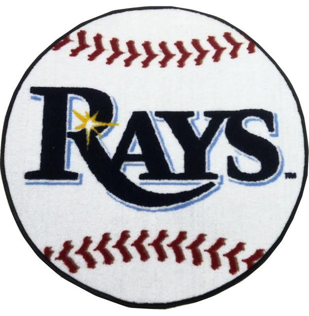 MLB Tampa Bay Devil Rays Baseball Shaped Accent Rug ...