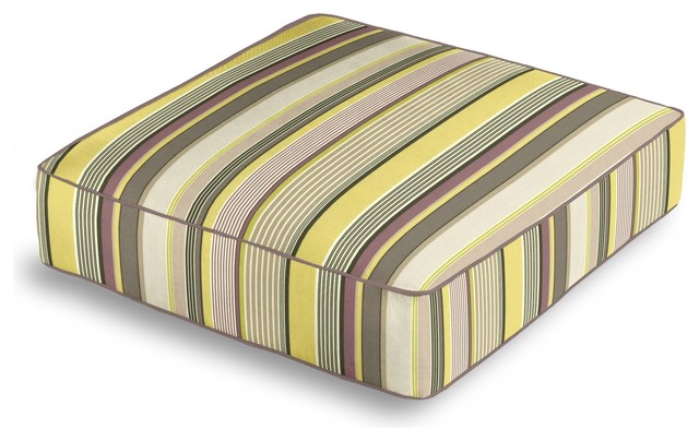 Purple & Green Modern Stripe Box Floor Pillow - Transitional - Floor Pillows And Poufs - by Loom ...