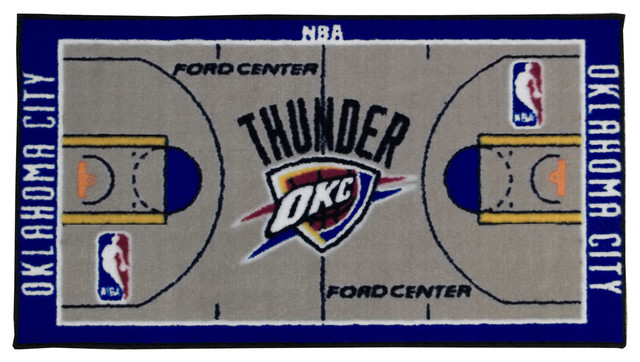 Http Www Houzz Com Photos 11346537 Nba Oklahoma City Thunder Rug Basketball Runner Carpet Contemporary Hall And Stair Runners