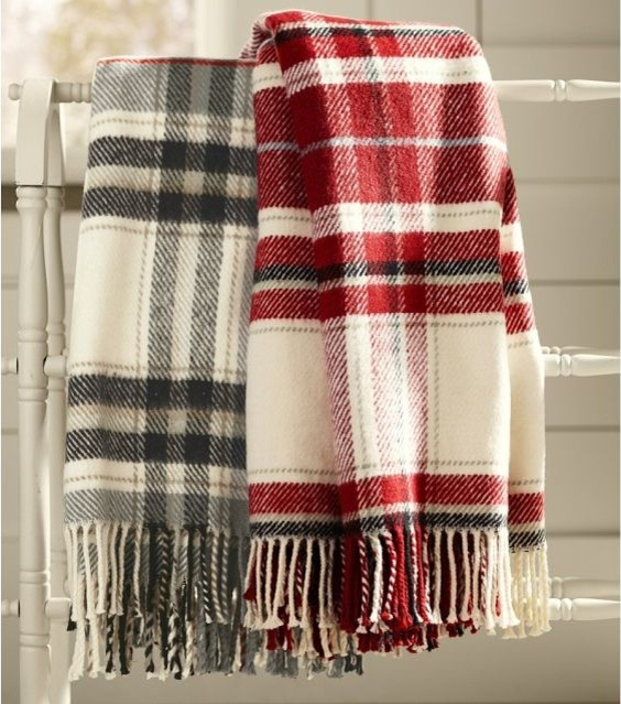 Breckenridge Plaid Throw Traditional Throws Pottery Barn