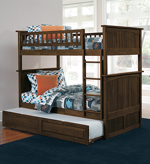 Nantucket Antique Walnut Bunk Bed Contemporary Bunk Beds New York By The Atlantic Furniture