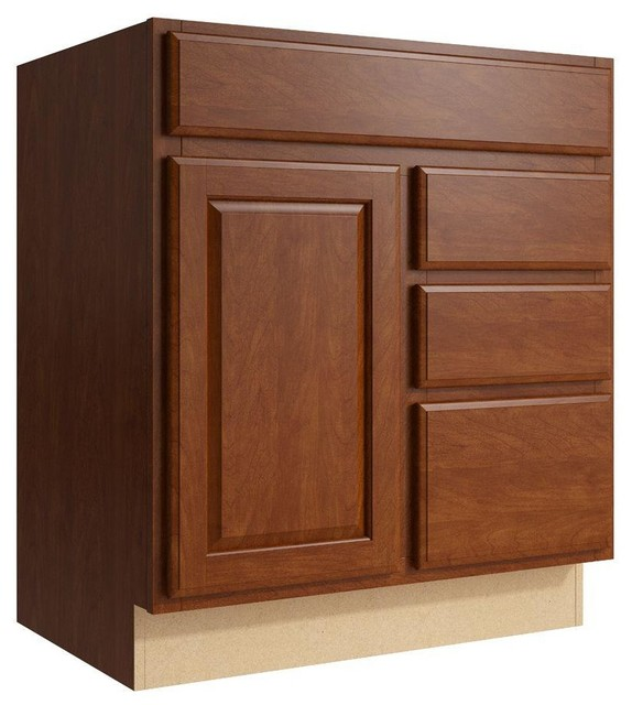 Cardell Cabinets Salvo 30 in. W x 34 in. H Vanity Cabinet ...
