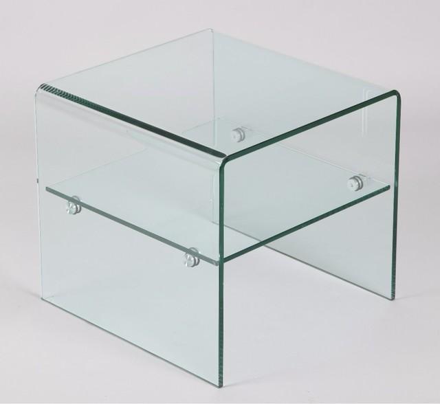 Bout de canap hestia en verre contemporary side tables end tables - Table bout de canape en verre design ...