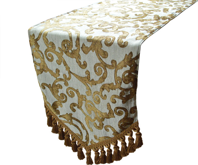 Lampassi decorative table runner aqua 108 traditional for 108 table runner