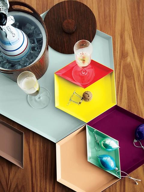 kaleido trays set of 7 modern serving dishes platters. Black Bedroom Furniture Sets. Home Design Ideas