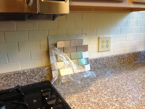 Experiences with stainless steel subway tile backsplash?