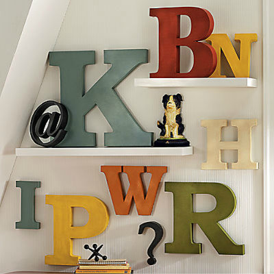 Antiqued metal letters and symbols modern artwork by for Letter wall art