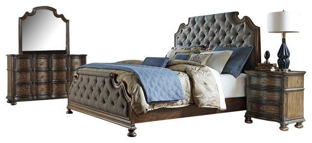 Liberty Tuscan Valley Bedroom Set With Queen Bed Traditional Furniture