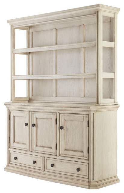Demarlos Dining Room Server Hutch Parchment White