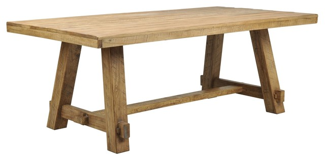mesa trestle dining table rustic dining tables los