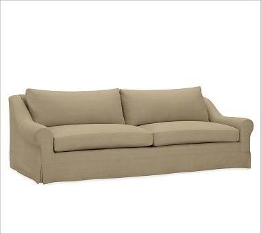 Windsor Slipcovered Sofa Down Blend Wrap Box Cushions