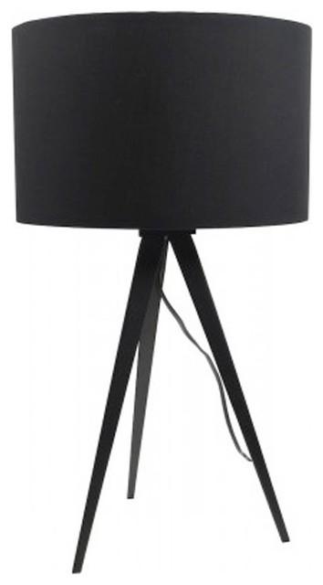 lampe poser tripod laque mini couleur noir scandinave. Black Bedroom Furniture Sets. Home Design Ideas