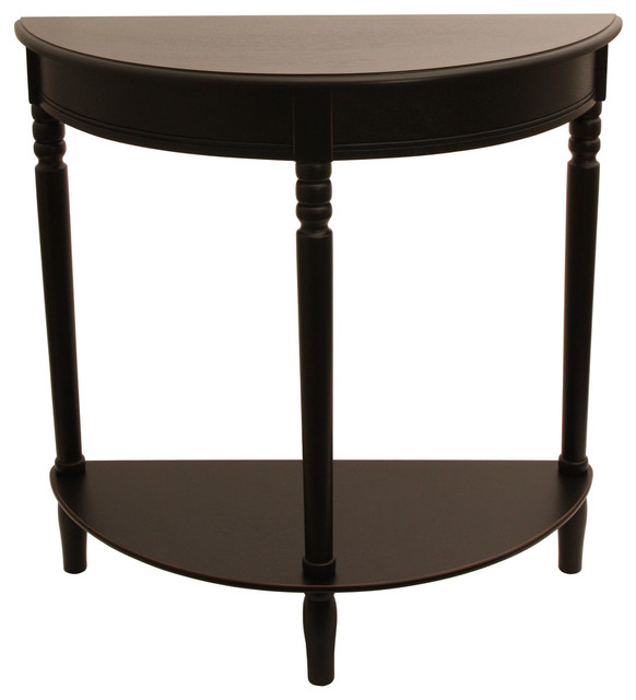 simplicity half round accent table black contemporary side tables and end tables by jimco. Black Bedroom Furniture Sets. Home Design Ideas