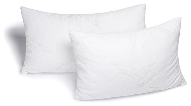 Avana Memory Foam Bamboo Head Pillow, Set of 2 - Traditional - Bed Pillows - by Avana Comfort