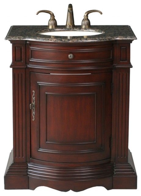 30 inch traditional single sink bathroom vanity traditional bathroom vanities and sink for Single sink consoles bathroom