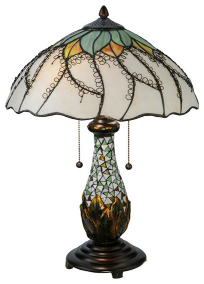 Meyda 22 5 h videira florale table lamp traditional for Decoration florale table