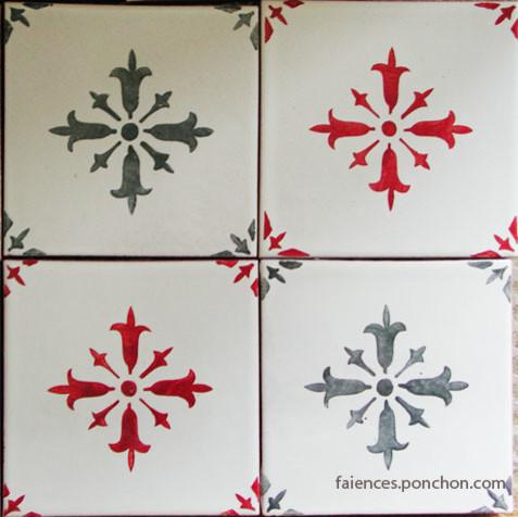 carreaux traditonnels faience ponchon les rouges classique chic carrelage sol et mur. Black Bedroom Furniture Sets. Home Design Ideas