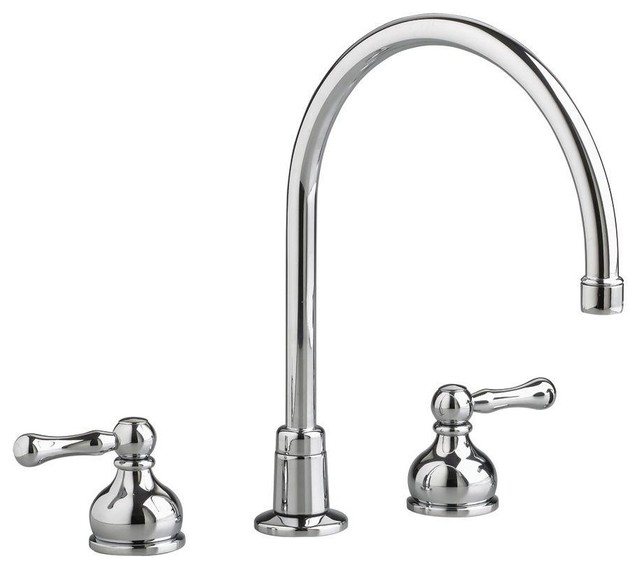 heritage 2 handle kitchen faucet in polished chrome less