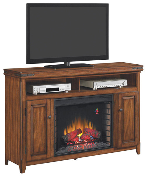 Mayfield electric fireplace media console in cherry 28mm9644 x332 contemporary indoor - Contemporary electric fireplace insert accessories ...
