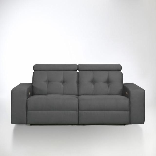 Canapé de relaxation électrique Julema en tissu mi