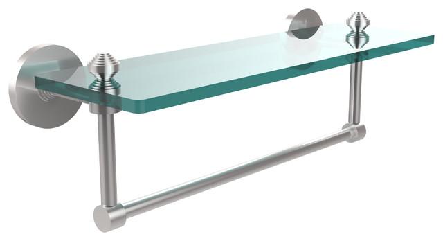16x5 Glass Shelf With Towel Bar, Satin Chrome ...