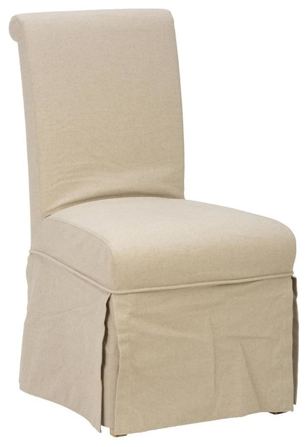 slipcover skirted parson chair contemporary dining chairs